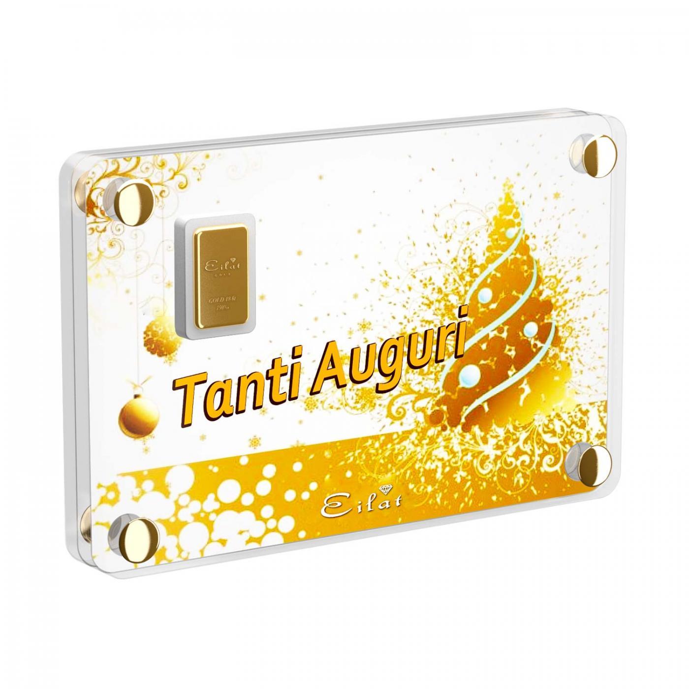 Regalo Gold Festività | Blister Gold 0,7gr | Confezione Led