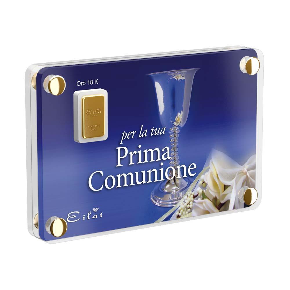 Regalo Gold Comunione | Blister Gold 1,0gr | Confezione Led