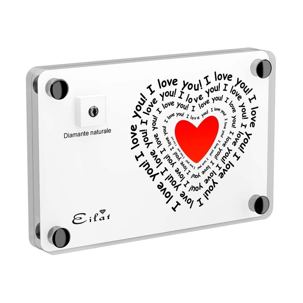 Regalo Carbonado Amore | Blister Carbonado 0,05ct | Confezione Light