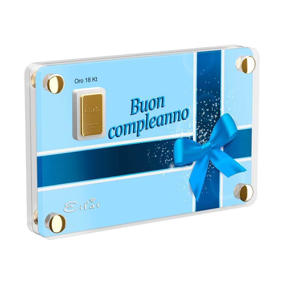 Regalo Gold Compleanno | Blister Gold 0,5gr | Confezione Led