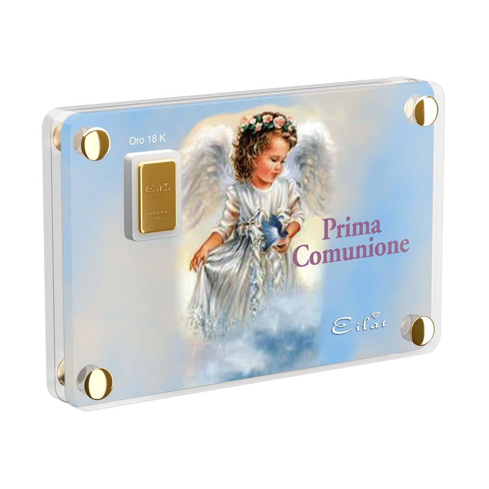 Regalo Gold Comunione | Blister Gold 0,5gr | Confezione Led