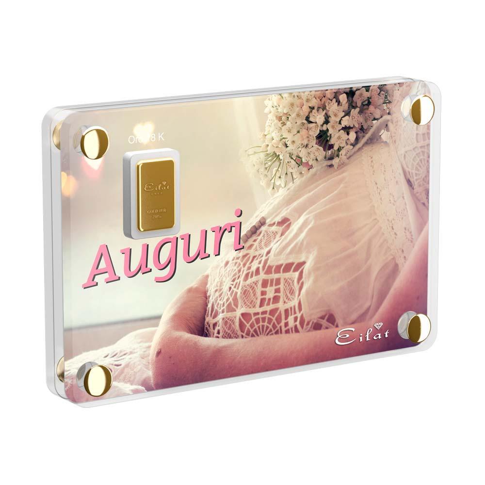Regalo Gold Nascita | Blister Gold 2,5gr | Confezione Led